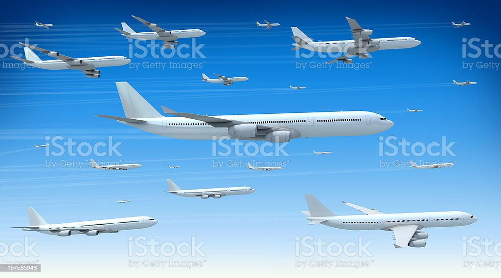Traffic Jam in the Skies royalty-free stock photo