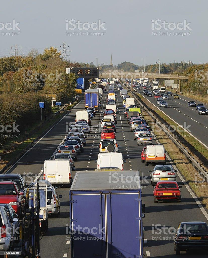Traffic Jam on the M5 stock photo