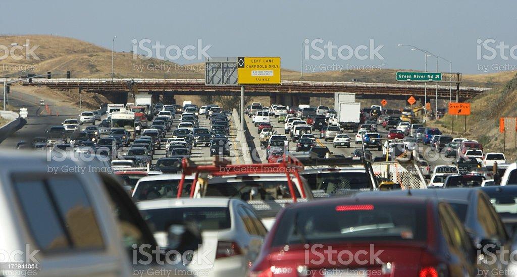 traffic jam (#40 of series) stock photo