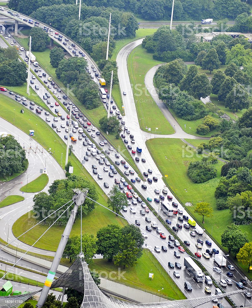 traffic jam - Verkehrschaos Stau royalty-free stock photo