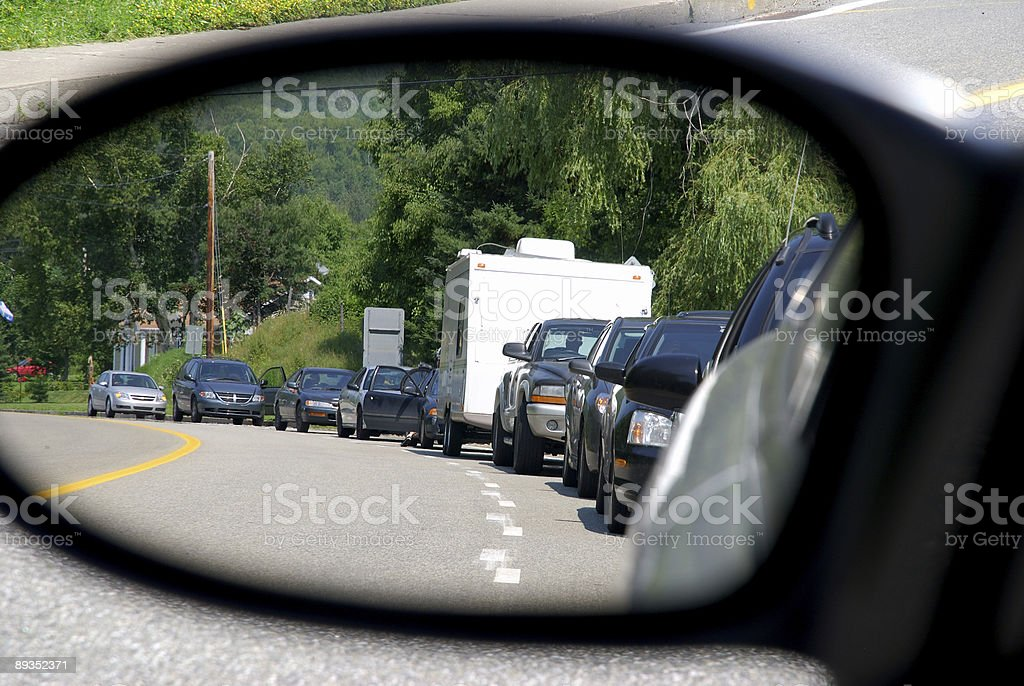 Traffic jam / Waiting in the line royalty-free stock photo