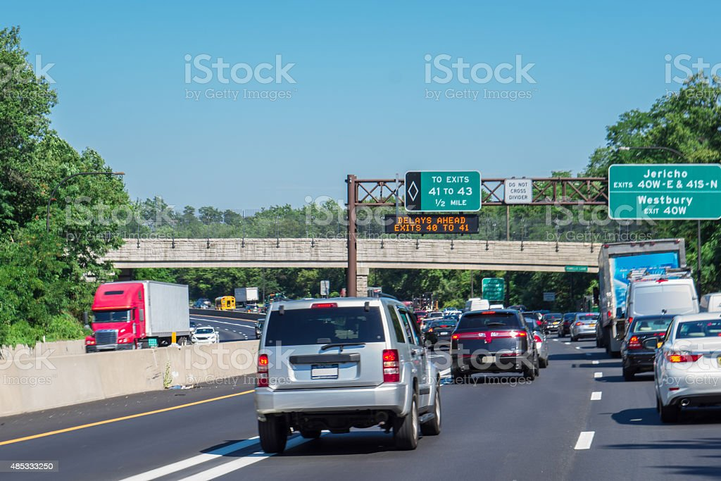 traffic jams in the high way stock photo