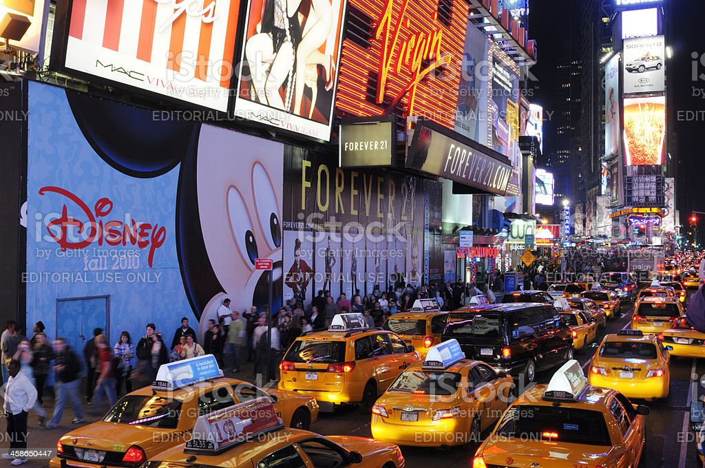 Traffic Jam.Times Square,NYC royalty-free stock photo