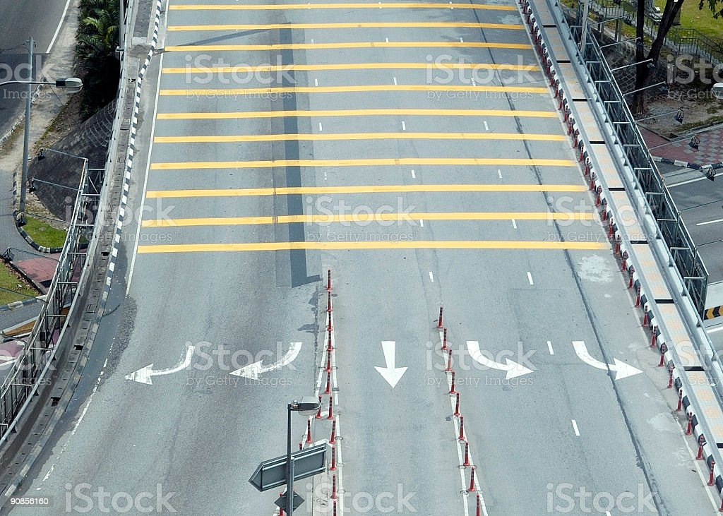Traffic Lanes stock photo