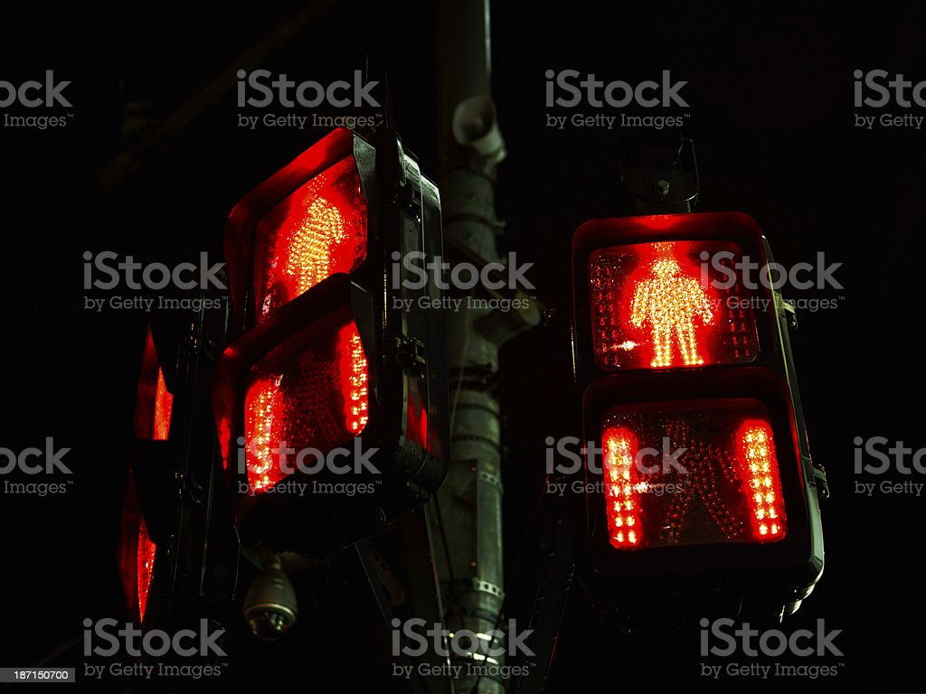 Traffic light after the rain royalty-free stock photo