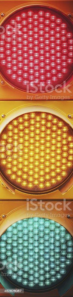 Traffic Light Confusion stock photo