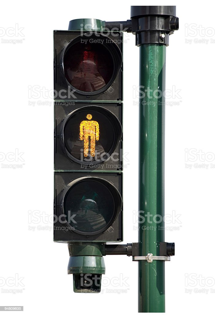 traffic light - don't walk royalty-free stock photo