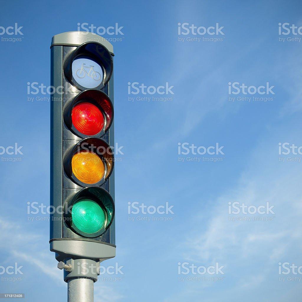 Traffic light for bikers stock photo