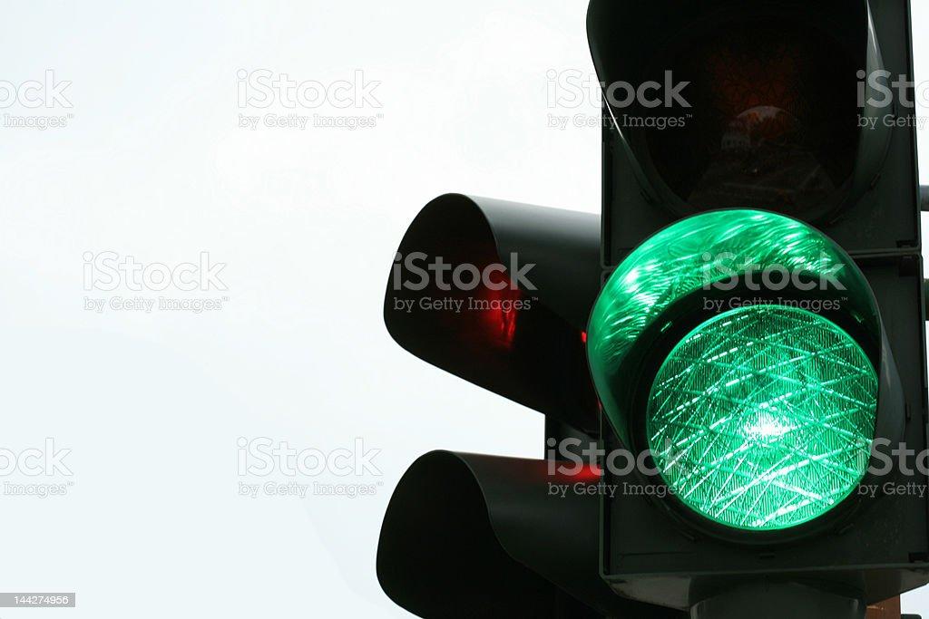 traffic light green stock photo