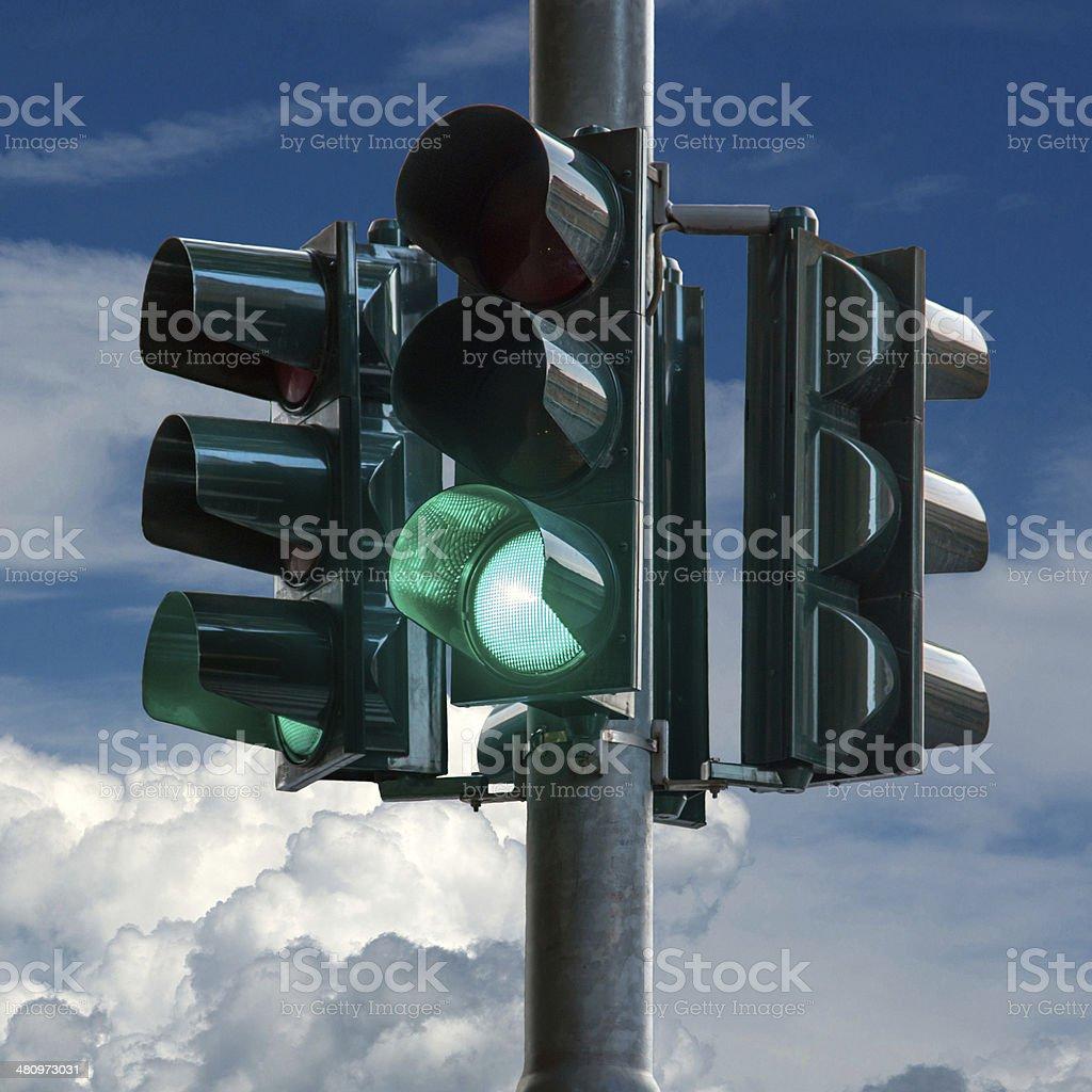 Traffic Light Green royalty-free stock photo