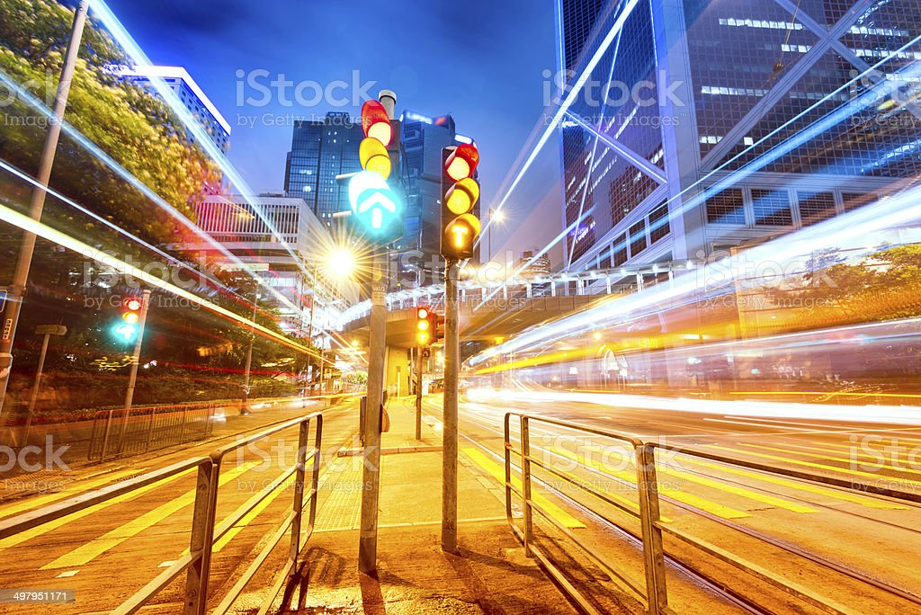 Traffic light in the city stock photo
