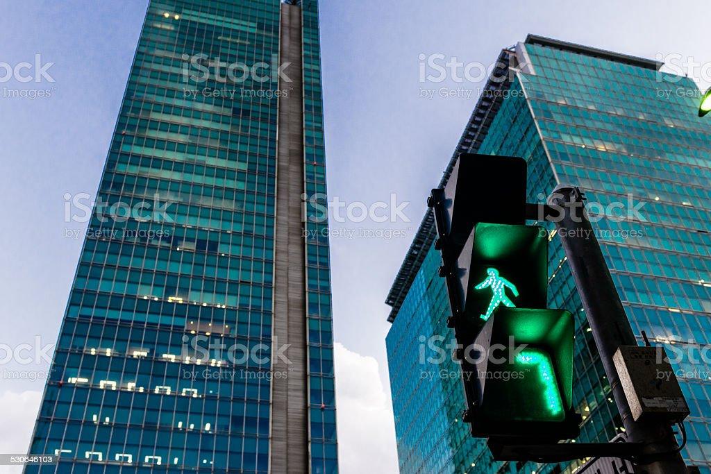 Traffic light is Green stock photo