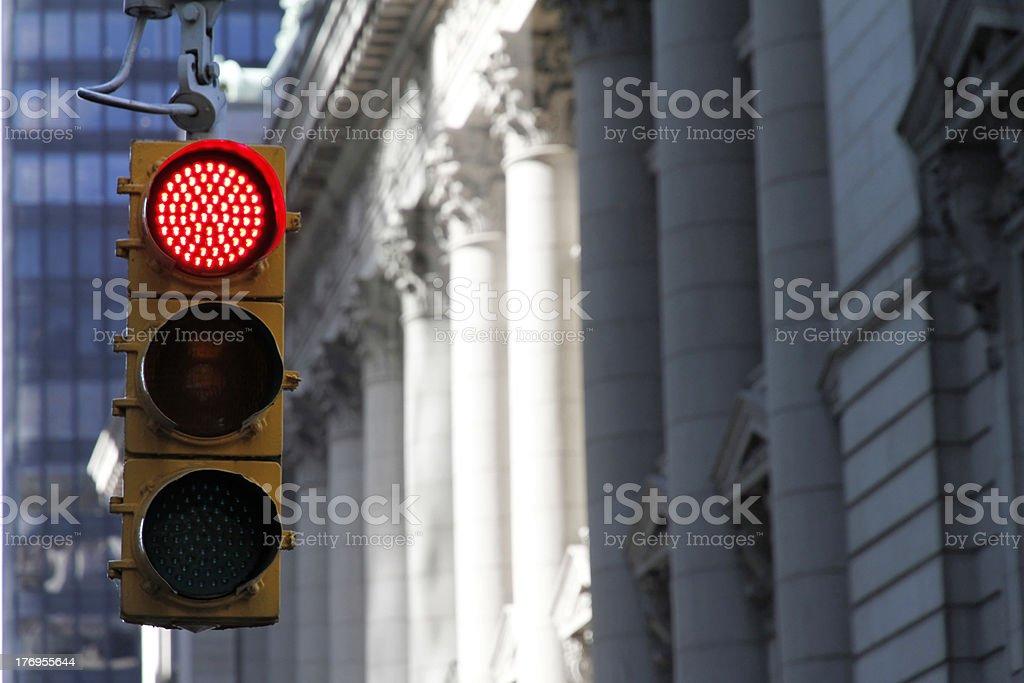 Traffic light New York City stock photo