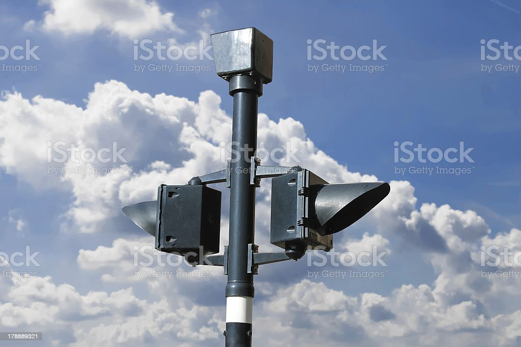 Traffic light on  background of the cloudy sky royalty-free stock photo