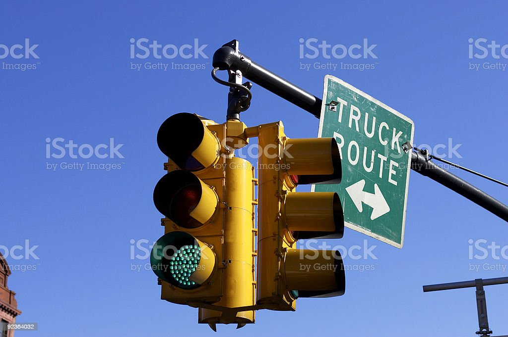 Traffic light on green royalty-free stock photo