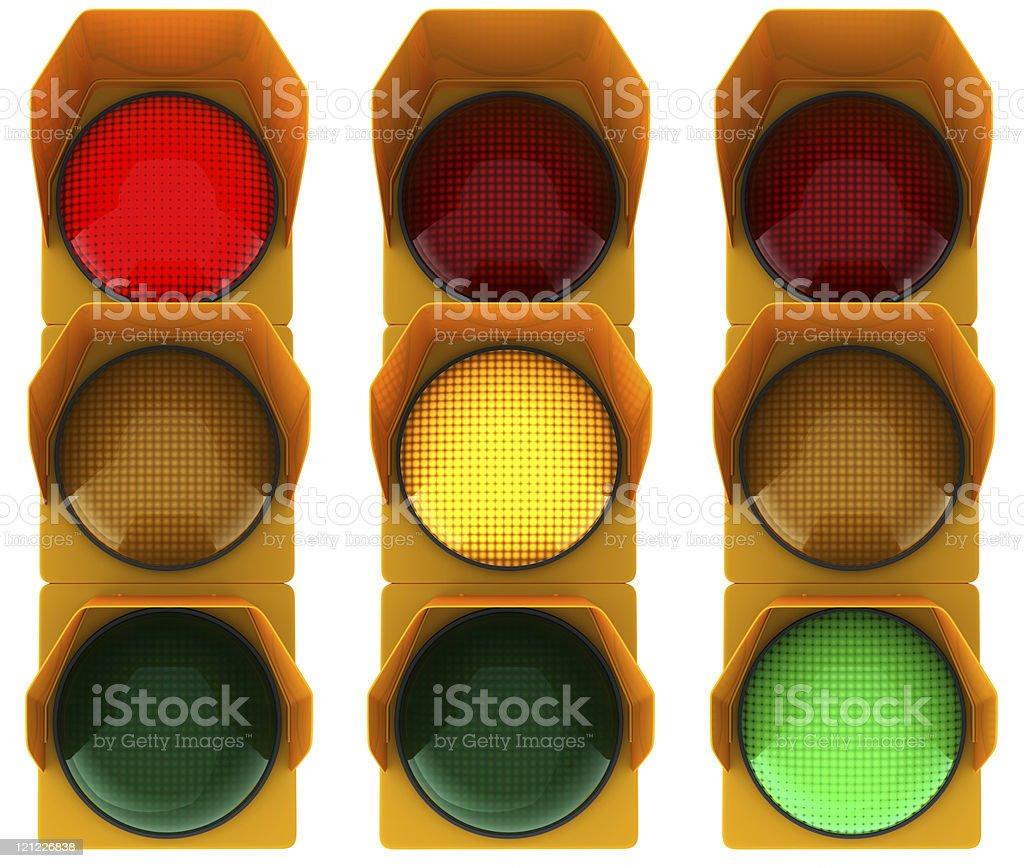 Traffic light. On royalty-free stock photo