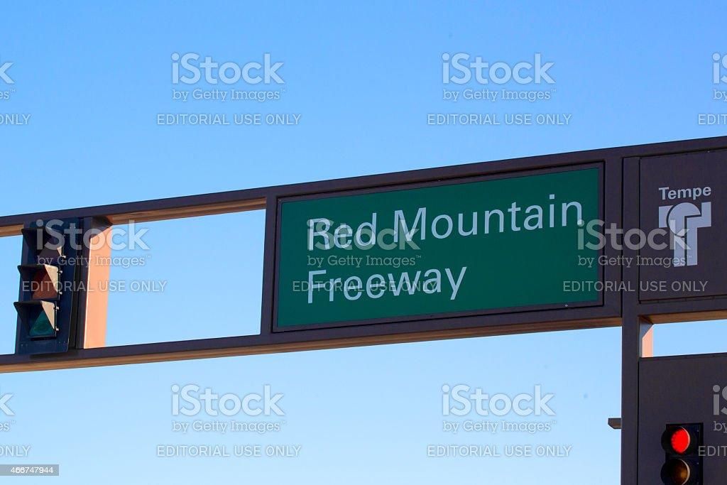 Traffic light on Red Mountan Freeway in Tempe, Arizona  rm stock photo