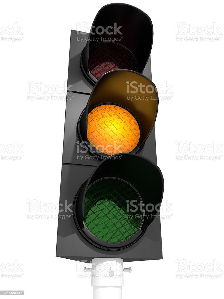 Traffic Light Orange stock photo