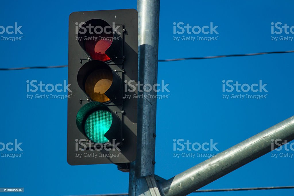 Traffic light stock photo