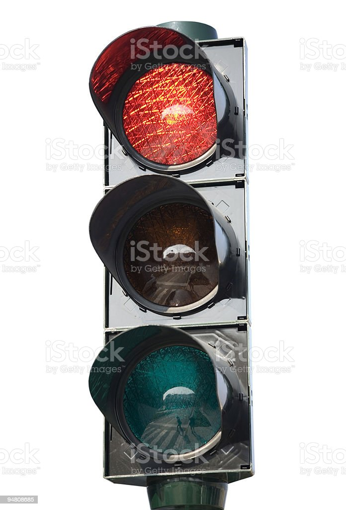 traffic light red royalty-free stock photo