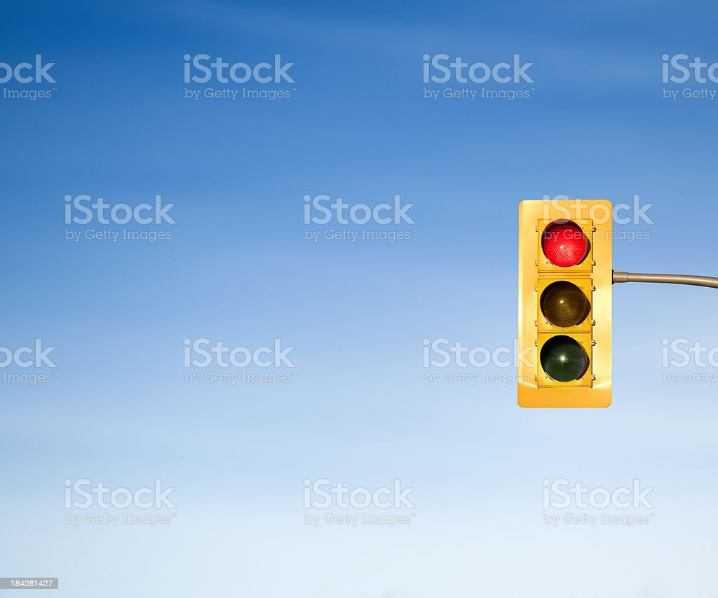 Traffic light red stop signal concept royalty-free stock photo