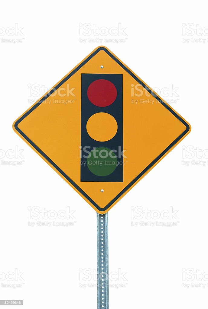 Traffic light sign against white background royalty-free stock photo