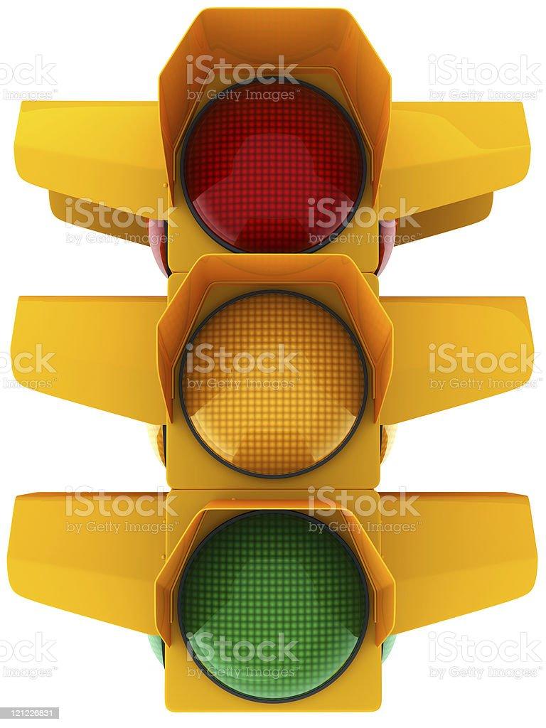 Traffic light. Three side royalty-free stock photo