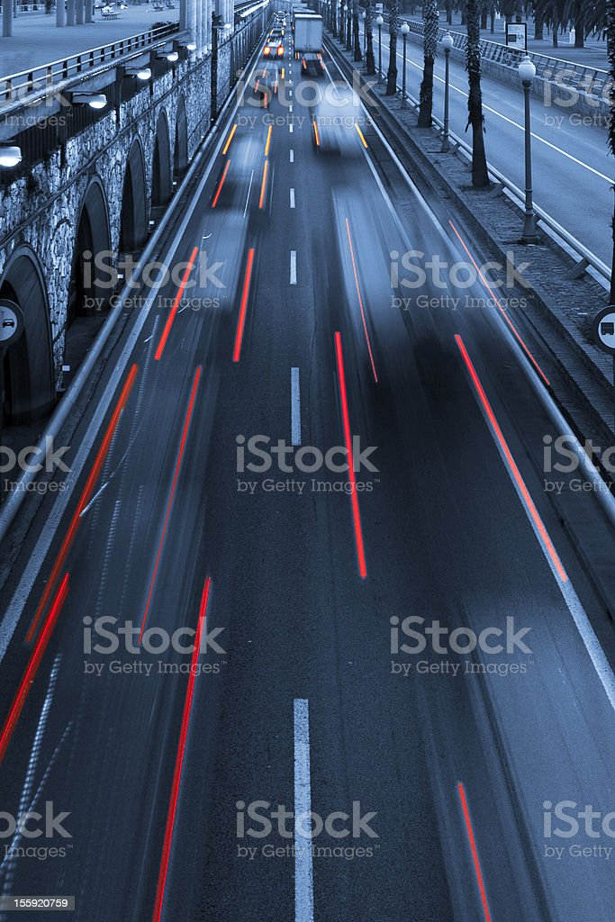 Traffic light trail abstract royalty-free stock photo