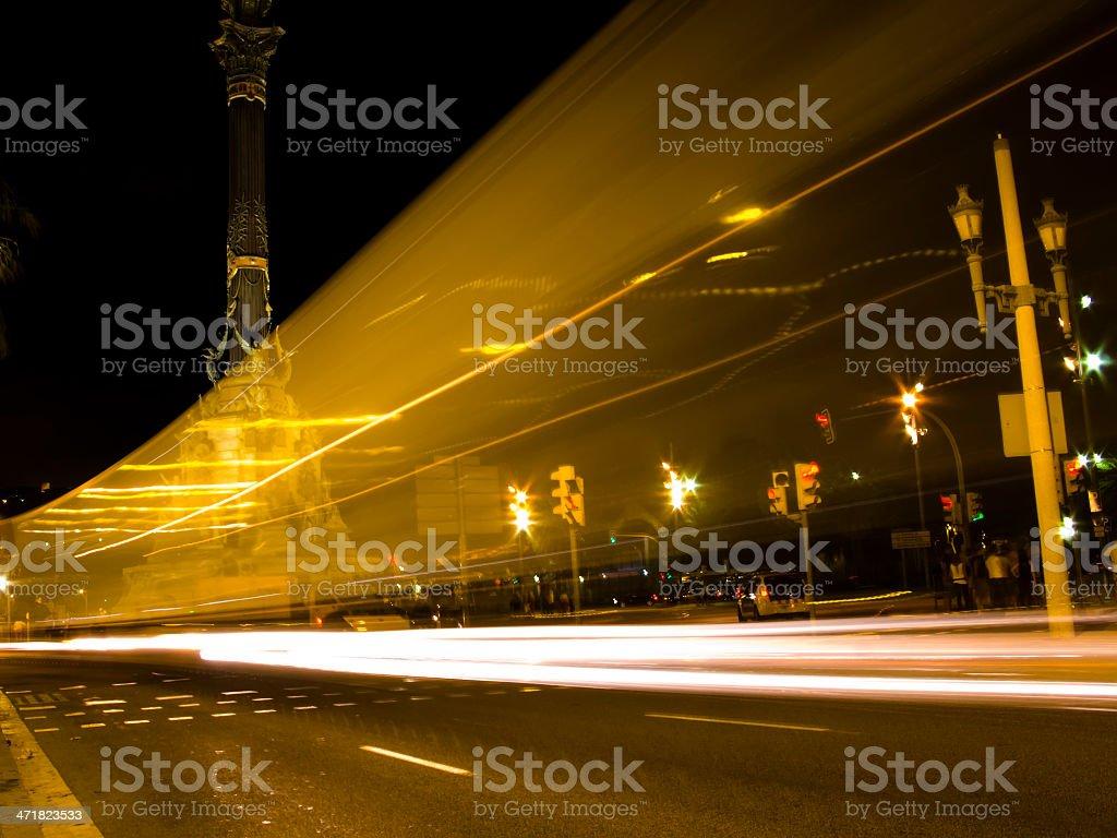 Traffic lights blur royalty-free stock photo