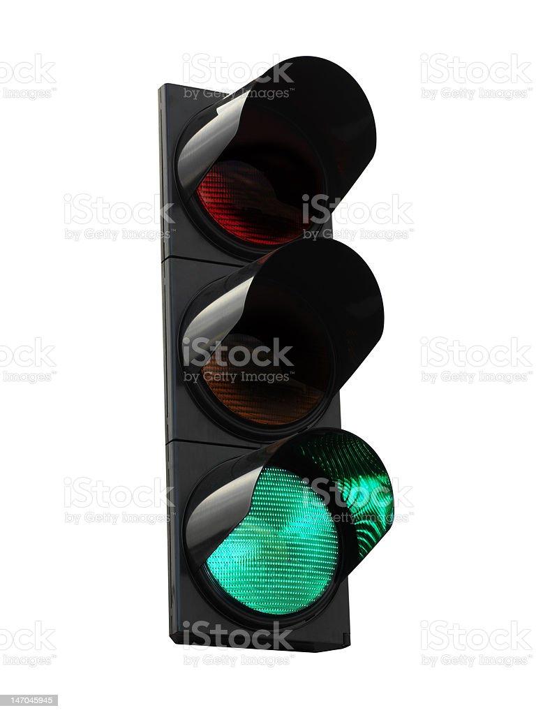 Traffic lights - green stock photo