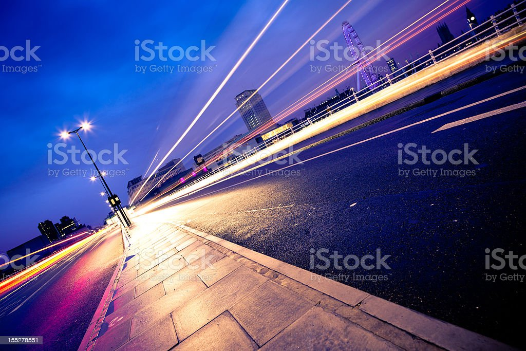 Traffic lights in London royalty-free stock photo