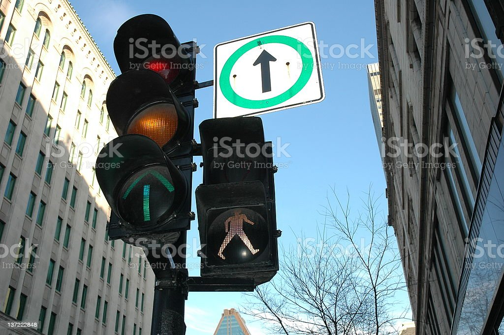 Traffic Lights in Montreal royalty-free stock photo
