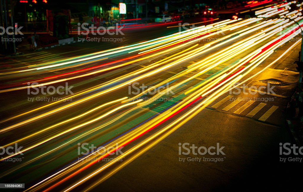Traffic lights in motion royalty-free stock photo