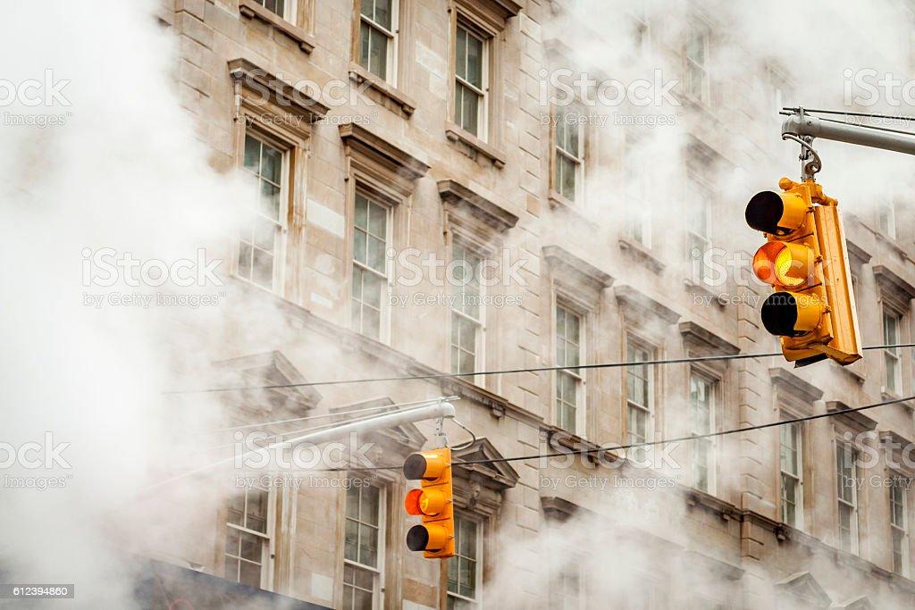 Traffic Lights in New York stock photo