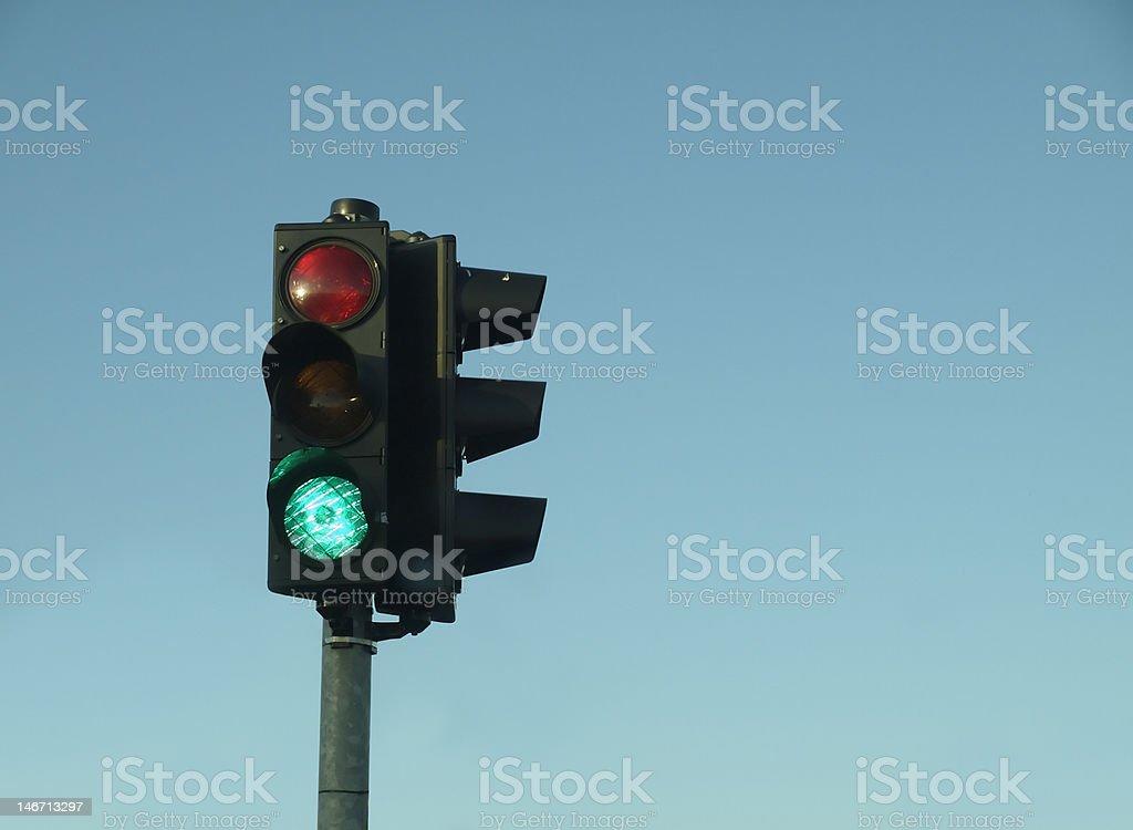 Traffic lights indicating green light royalty-free stock photo