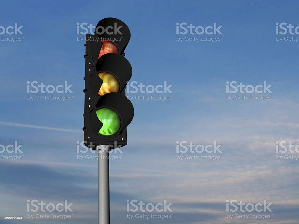 Traffic lights, normal stock photo
