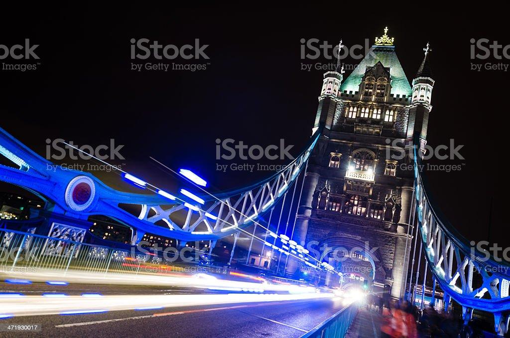 Traffic Lights On The Tower Bridge royalty-free stock photo