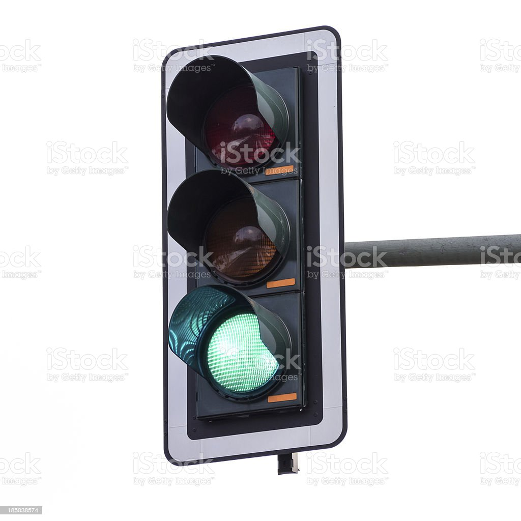 Traffic lights (green) royalty-free stock photo