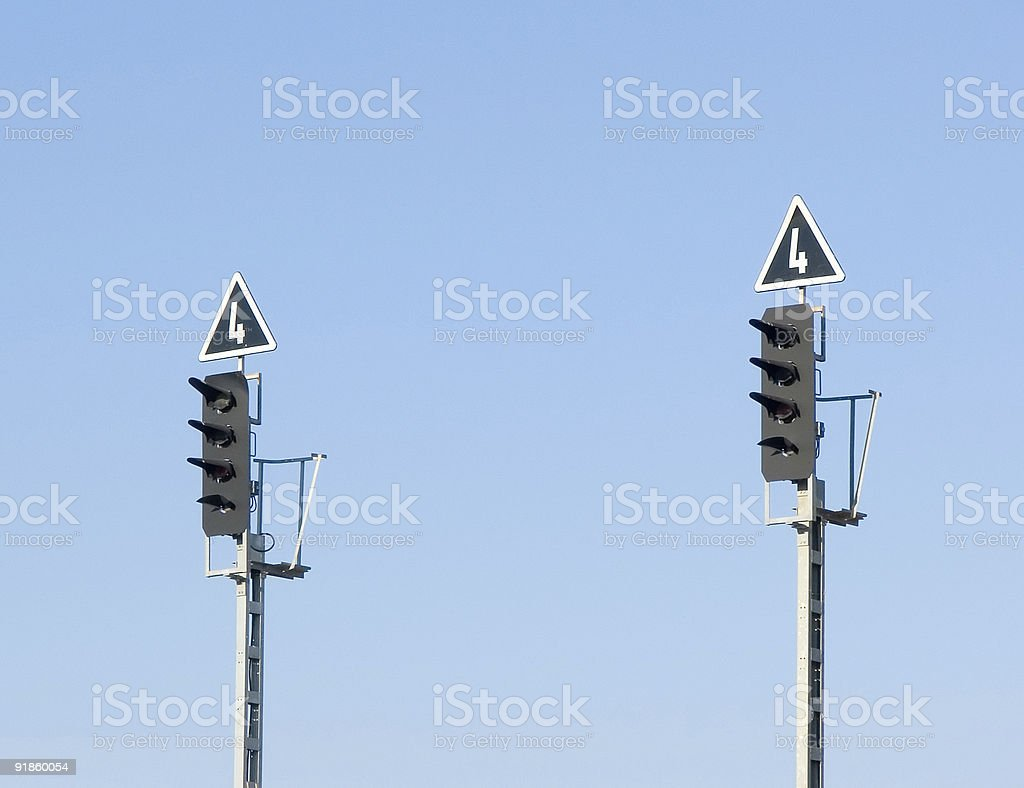 Traffic lights royalty-free stock photo