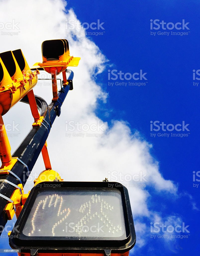 Traffic lights with blue skies royalty-free stock photo