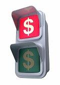 Traffic lights'dollar'