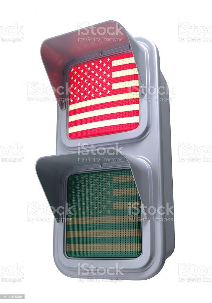 Traffic lights'US' stock photo