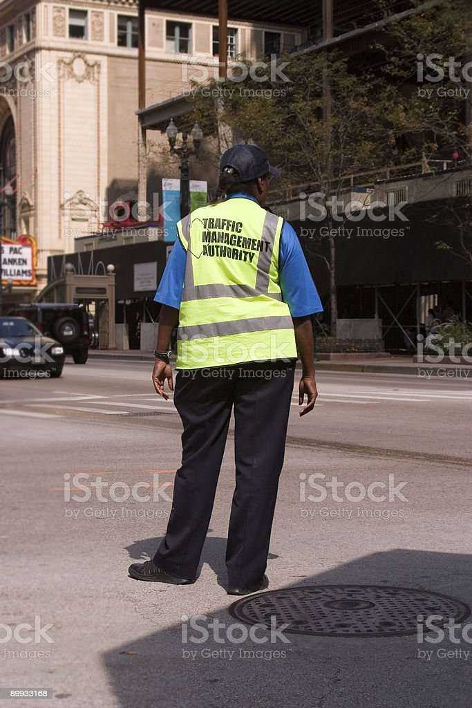 Traffic Management Authority Worker stock photo