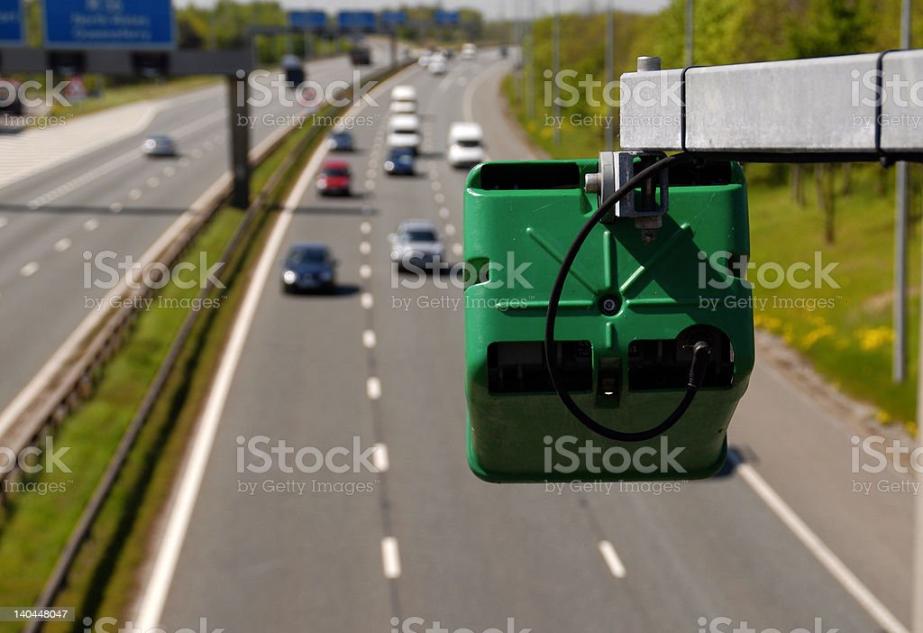 Traffic Management On The Motorway royalty-free stock photo