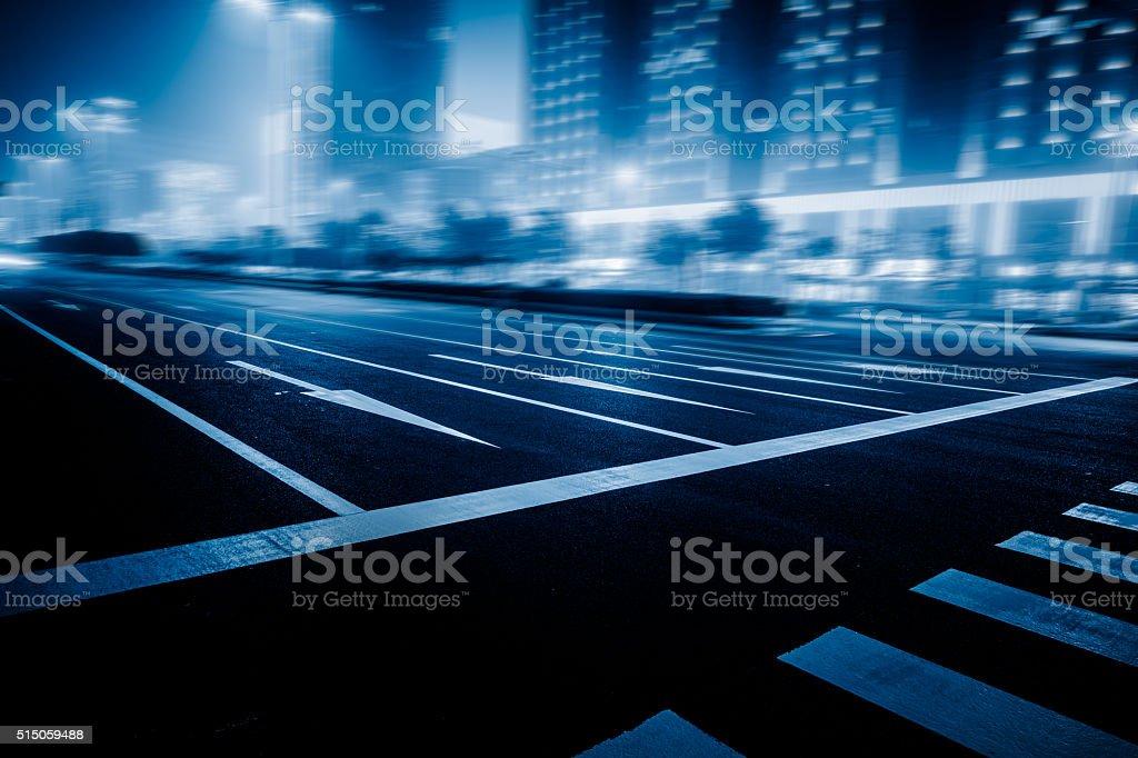 traffic night of city stock photo