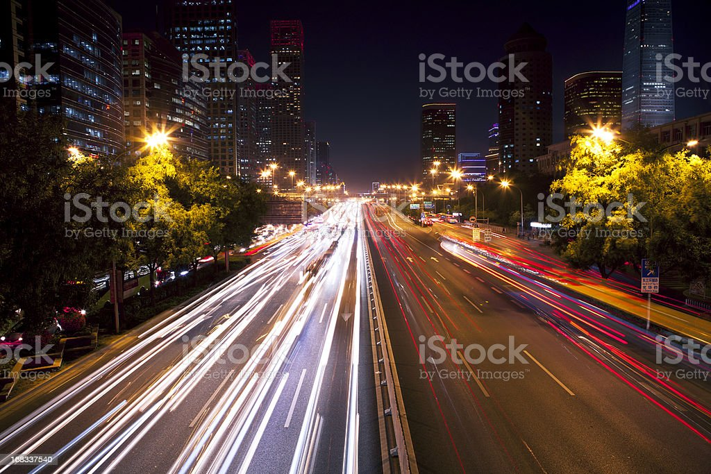 traffic of beijing royalty-free stock photo