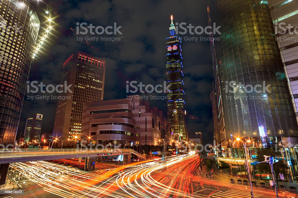 Traffic of Taipei city, Taiwan stock photo