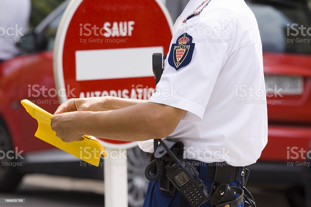 Traffic Offence stock photo