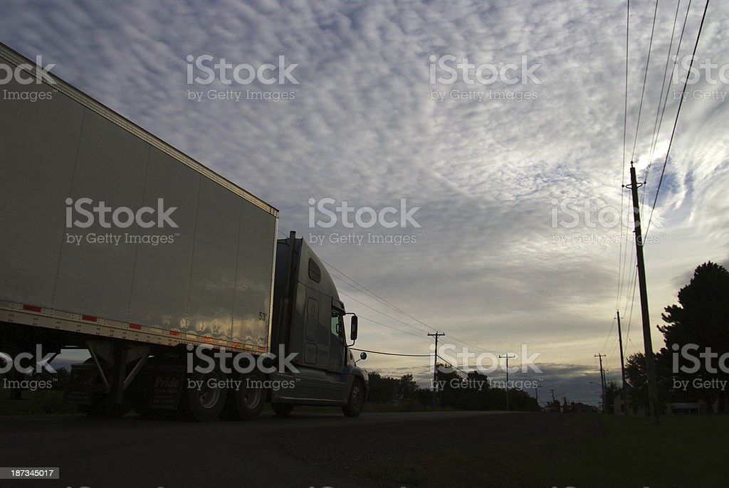Traffic on a Canadian highway stock photo