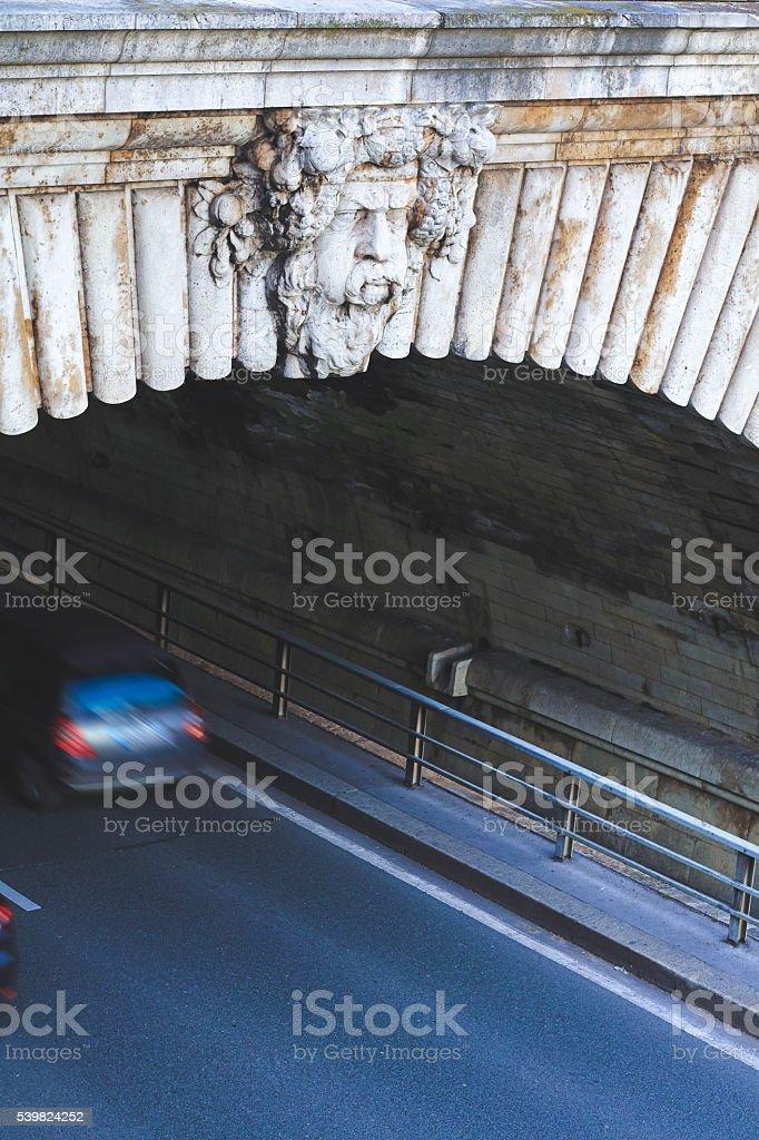 Traffic on a Paris street stock photo